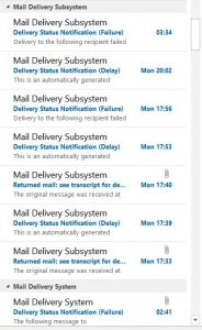 The 'Undeliverable Email' Notifications Problem